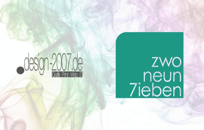 Aus design-2007 wird ZwoNeun7ieben IT-Solutions | Grafikdesign Dominik Nagel Ihr Partner für alle Grafik & IT-Themen in der Region