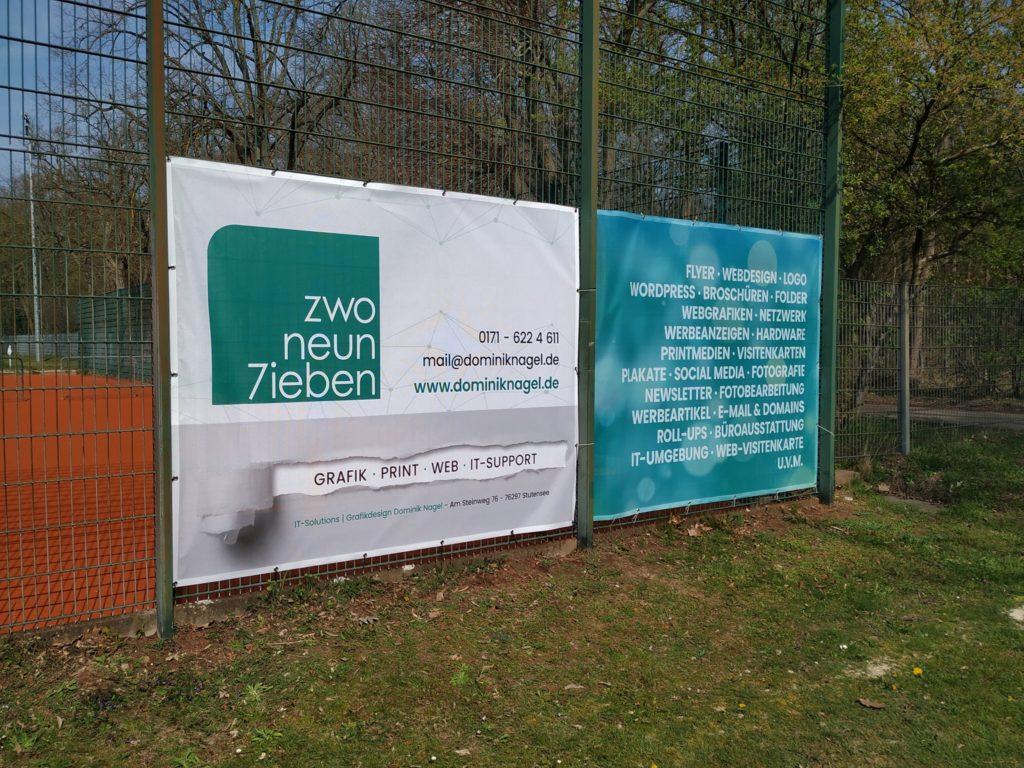 297 - ZwoNeun7ieben - Zaunbanner DJK Karlsruhe Ost